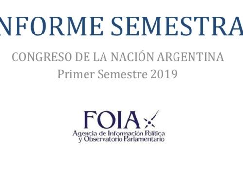 Informe Semestral Congreso de la Nación